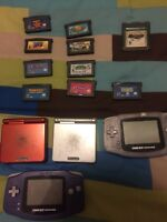 Gameboy advances (2 normal 2 sp) and a handful of games