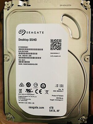 """Used, Used Seagate Desktop SSHD 4TB,Internal,7200 RPM,8.89 cm 3.5"""" (ST4000DX001) SSHD for sale  Shipping to Nigeria"""