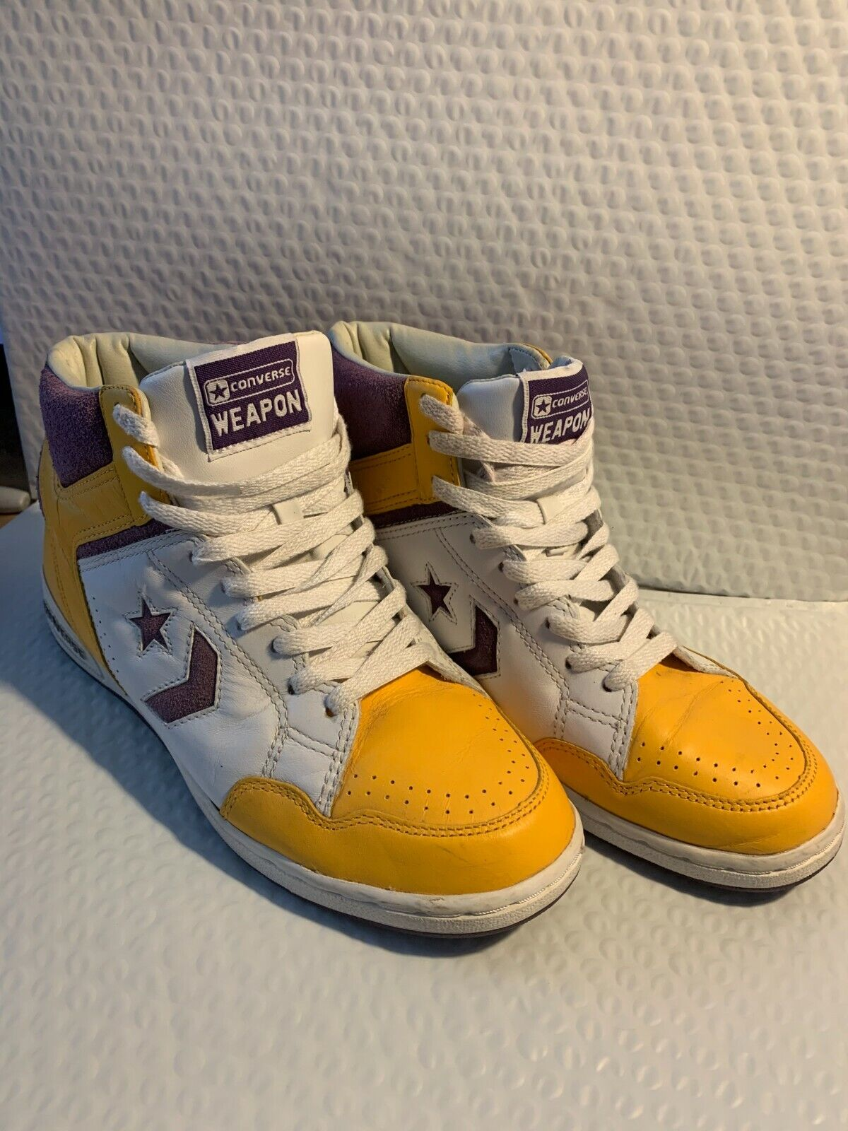 Converse Weapons in  Laker Colors as worn by Magic Johnson size 11