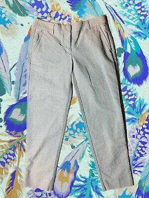 Womens J.Crew Skimmer Pants in Cotton Oxford Light Blue Ankle Sz 0 Career Casual