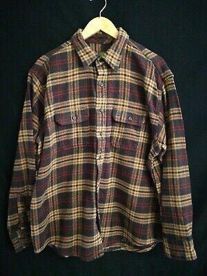 Timberland Brown Plaid Flannel Long Sleeve Shirt Size XL (Timberland Brown Shirt)