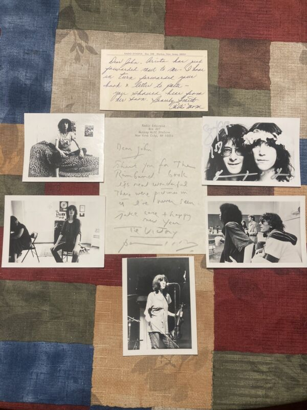 Patti Smith Personal Owned Photos & Signed letter autographed photo Lenny Kaye
