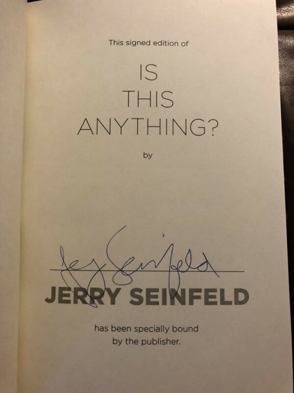 Jerry Seinfeld Hand Signed Is This Anything Book Autographed First Edition