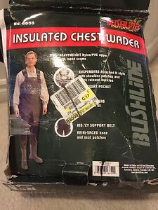 BUSHLINE INSULATED CHEST WADER SIZE 11 NEW IN BOX