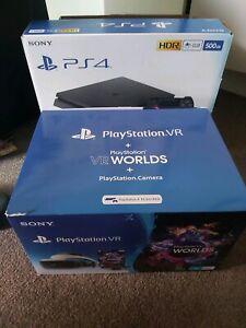 PS4 Slim 500GB, PlayStation VR v2, 7 games