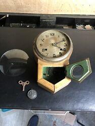 Rare Antique New Haven Miniature Schoolhouse Clock- Salesman Sample wall hanging