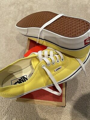 Vans Authentic Yellow Skateboard Shoes Size Men's 9 Womens 10.5 NEW IN BOX