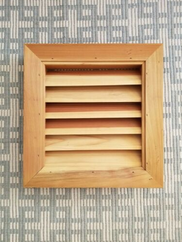 "Redwood Rectangular Gable Louver Vent 14""x15"" Unfinished Wood Vents"