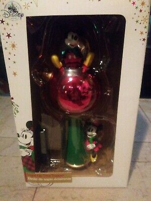 Disney Store Mickey and Minnie Mouse Light Up Ornament Christmas Tree Topper