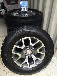 GMC or Chevrolet 255/65/17 All Terrain Adventure Tires and Rims