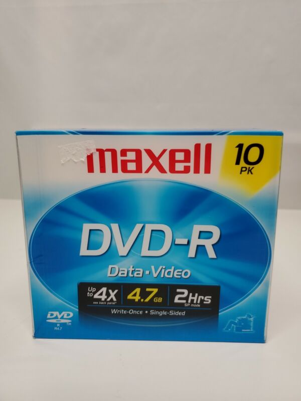 New, unopened MAXELL DVD-R 638004  4.7 GB 16X
