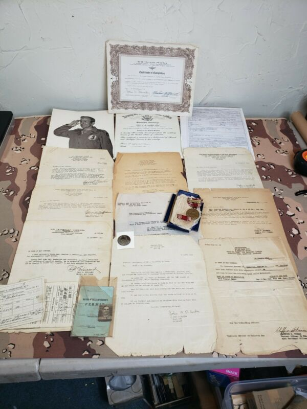 WWII USAAF Air Transport Command Medal And Paperwork Grouping