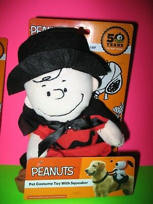 Charlie Browns Halloween Costume (Peanuts Pet Dog Halloween Costume Toy w/ Squeaker Charlie Brown Brand)