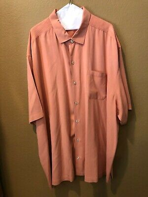 Rare! Tommy Bahama Coral color shirt! 100% silk -  STUNNING! 3XB size Sunglasses Color Coral