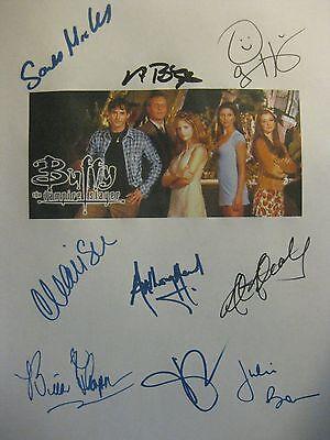 Buffy the Vampire Slayer Signed Pilot Script X9 Sarah Michelle Gellar Charisma
