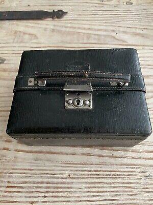 Jewelry Box Genuine Leather Dark Brown Handmade Ornaments Silk Padding