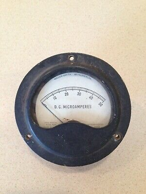 Vintage Roller-smith Type Tdh Dc Microamperes Meter Untested