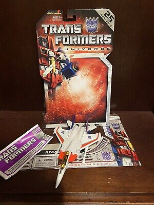 Transformers Universe Starscream Deluxe 100% Complete with instruction.