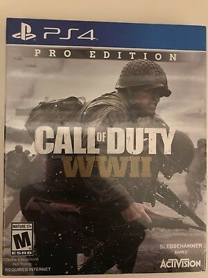 Call Of Duty Wwii Ww2 World War 2 Ps4 Pro Edition Steelbook   Season Pass