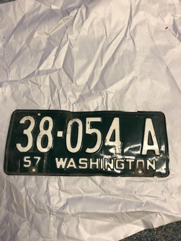 Washington State 1957 License Plate