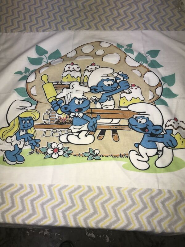 Vintage Smurfs Pillowcase VGUC