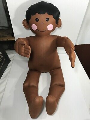 Vintage 1977 Boogie Bears Design Aa African American Boy Cloth Mannequin Doll