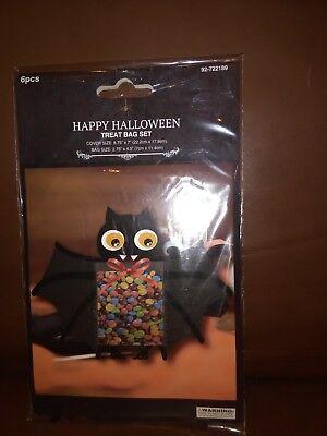 Happy Halloween Bat Treat Bags Set of 12