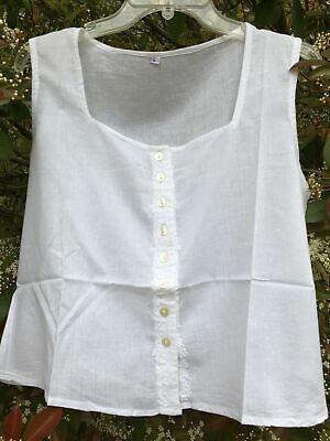 Peasant_Boho Shirt_Button Down Cotton Top_White_sizes S, M, L, - Down Cotton