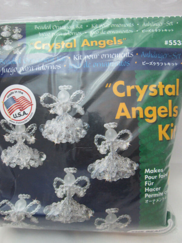 The Beadery Christmas Ornament Bead Kit - Makes 6 Crystal Angels