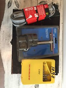 "Drill Bits~1/2"" Gluing Clamp~Air Conditioner Appliance Cord"