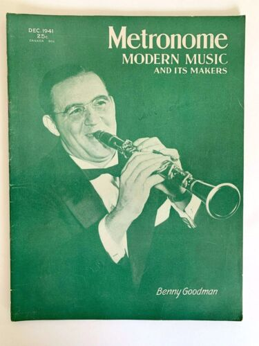 Metronome Magazine December 1941 Benny Goodman Cover