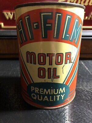 Hi film Motor Oil Can Quart Rare One!