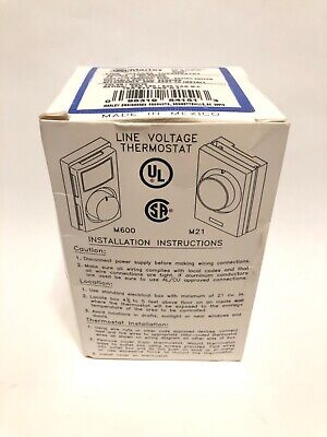 Marley M602 Electric Line Voltage Wall Thermostat 22a 120240v - Sealed Box