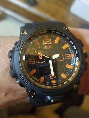 SMAEL Military Army Men's Orange dial Quartz Watches Casio Mudmaster style