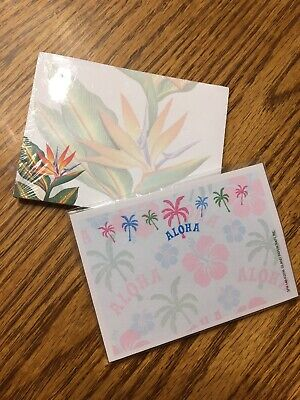 Hawaii Aloha 2-pack Sticky Notesnotepad 50 Sheets Each Small Souvenir Gift Nip