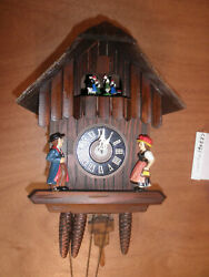 Cuckoo Clock German SEE VIDEO Black Forest  Musical Chalet 1 Day CK2461