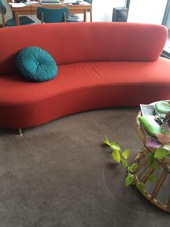 RED RETRO STYLE COUCH Erskineville Inner Sydney Preview