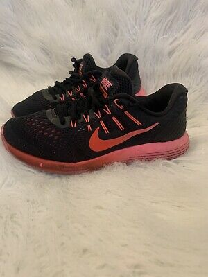 Nike Lunarglide 9 Athletic Shoes Pink Black Size 7