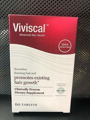 NEW Women's Viviscal Extra Strength 60 Tablets One Month Sup