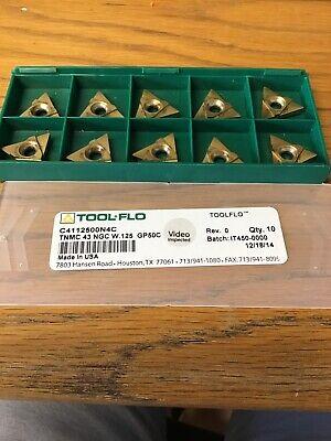 Tool Flo 10 Piece Tnmc 43 Ngc W.125 Gp50c Inserts