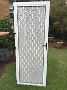 White Security Screen Door Largs North Port Adelaide Area Preview