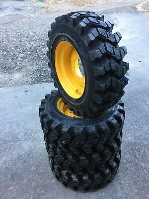 4 Camso Sks753 10-16.5 Skid Steer Tireswheelsrims For New Holland - 10x16.5