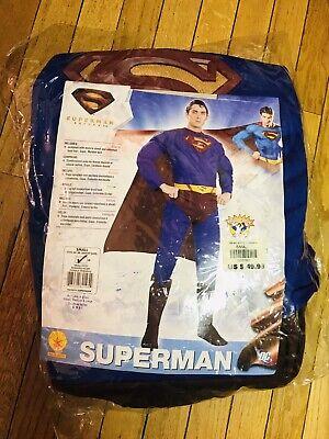 Superman S M Costume Full Costume Wig Cape Suit  (Superman Suit)