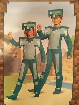 Minecraft Kids Costume (NEW MINECRAFT ARMOR CHILD COSTUME BOYS SZ 4 5 6 & 10 11 12 PRETEND PLAY COSPLAY)