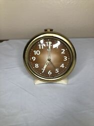 Vintage Westclox Big Ben 0812 Wind up alarm clock Glow In The Dark