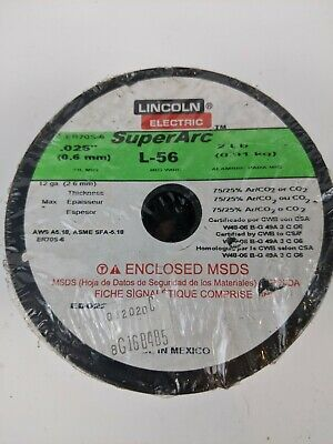 Lincoln Electric .025 In. Superarc L-56 Er70s-6 Mig Welding Wire A04