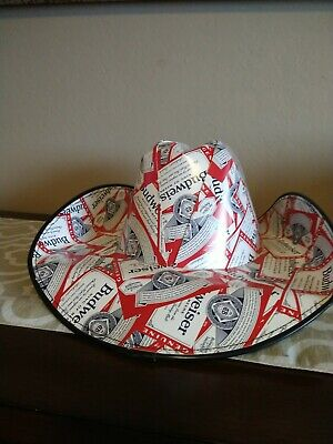 Patriotic BUDWEISER Cowboy Cowgirl HAT Beer Box Anheuser Busch NEW!