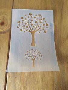 Love Tree Mylar Reusable Stencil Airbrush Painting Art Craft DIY Home Decor