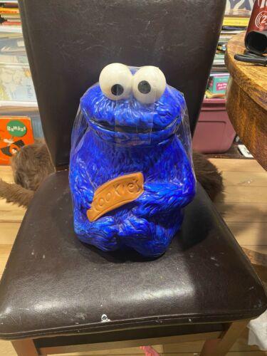 """Vintage Hand painted Cookie Monster Cookie Jar. #970. 12"""""""