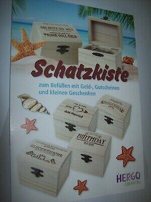 Schatzkiste Schatztruhe Box Holz leer für Geburtstag, Hochzeit, Geschenk usw.